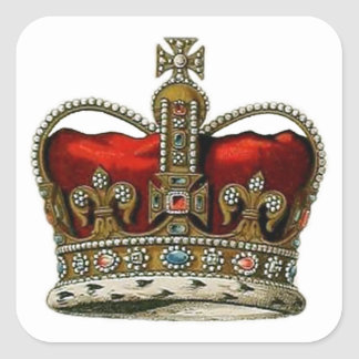 The Queen's Crown Square Sticker