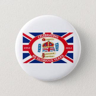 The Queen's Diamond Jubilee 6 Cm Round Badge