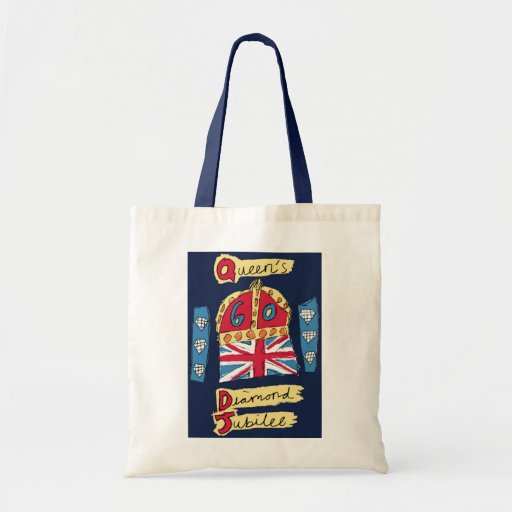 The Queen's Diamond Jubilee Canvas Bag