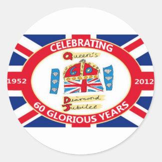The Queen's Diamond Jubilee Round Sticker