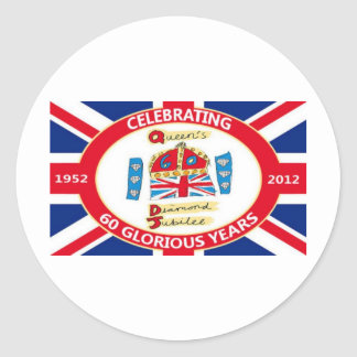 The Queen's Diamond Jubilee Round Sticker