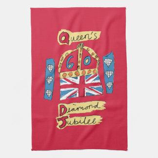 The Queen's Diamond Jubilee Tea Towel