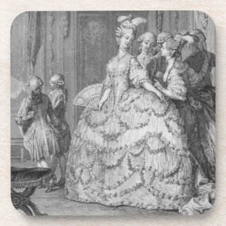 The Queen's Lady-in-Waiting, engraved by P.A. Mart Beverage Coasters