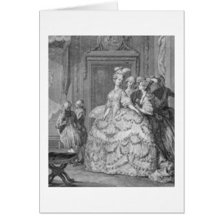 The Queen's Lady-in-Waiting, engraved by P.A. Mart Card