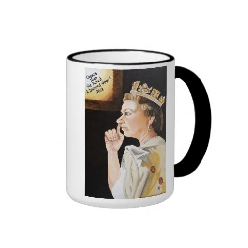 The Queen's 'picked a' Diamond Jubliee Mug
