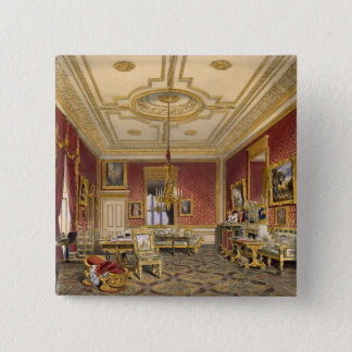 The Queen's Private Sitting Room, Windsor Castle, 15 Cm Square Badge