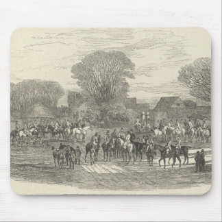 The Queen's Stag Hounds: The Meet, Aylesbury Mouse Pad