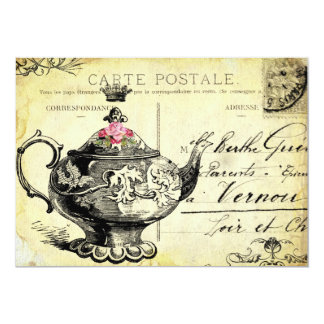 tHe QUeeN's TeA PaRTy 5x7 Paper Invitation Card