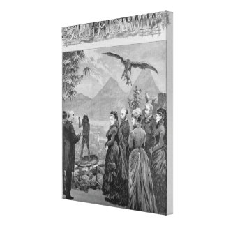 The Queen's Visit to the South Australian Court Canvas Print