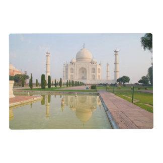 The quiet peaceful Taj Mahal at sunrise one of Laminated Place Mat
