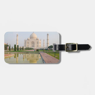 The quiet peaceful Taj Mahal at sunrise one of Luggage Tag