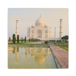 The quiet peaceful Taj Mahal at sunrise one of