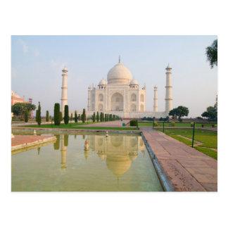 The quiet peaceful Taj Mahal at sunrise one of Postcard