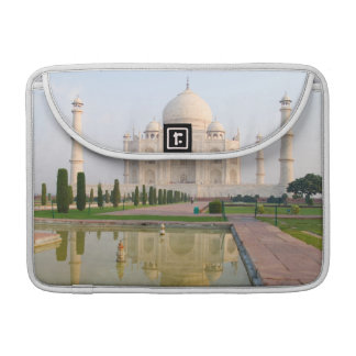 The quiet peaceful Taj Mahal at sunrise one of Sleeve For MacBook Pro