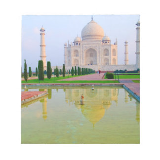 The quiet peaceful World Famous Taj Mahal at Notepad