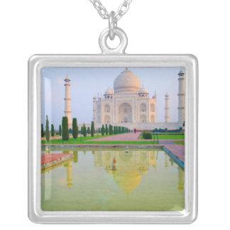 The quiet peaceful World Famous Taj Mahal at Square Pendant Necklace