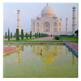 The quiet peaceful World Famous Taj Mahal at Tile