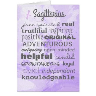 The Quintessential Sagittarius Birthday Card