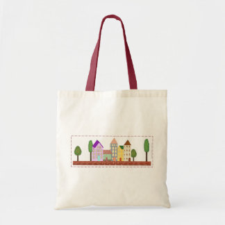 """The Quirky Village"" Tote Bag"