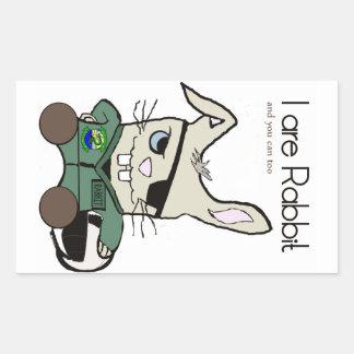 The Rabbit. A helicopter pilot. Rectangular Sticker