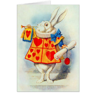 The Rabbit in Alice in Wonderland ~ Card