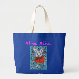 The rabbit of Alice to the countries of the wonder Large Tote Bag