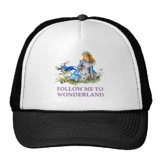 "The Rabbit Passes Alice ""Follow me To Wonderland"" Cap"