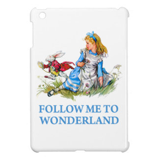 "The Rabbit tells Alice, ""Follow me to Wonderland"" Cover For The iPad Mini"