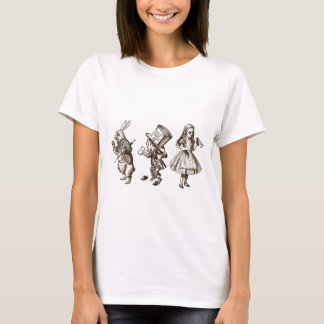 The Rabbit, the Hatter & Alice from Wonderland T-Shirt