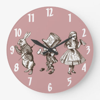 The Rabbit, the Hatter and Alice Wall Clock