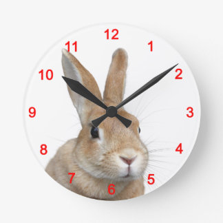 The rabbit which side is faced a little, No.01 Wallclock