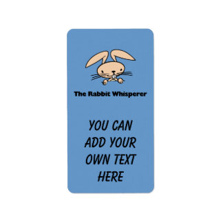 The Rabbit Whisperer Avery Label Address Label