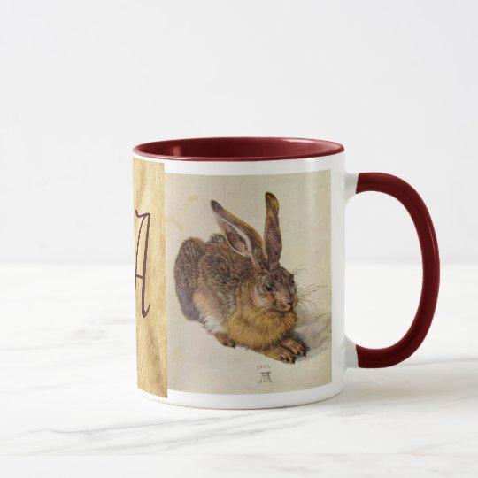 THE RABBIT ( Young Hare ) Monogram Mug