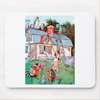 The Rabbit's House in Wonderland Mouse Pads