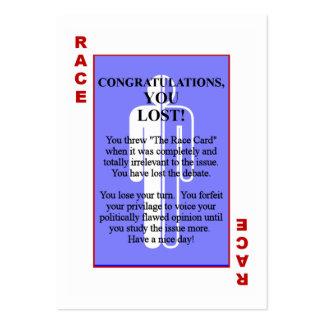 The Race Card Business Card