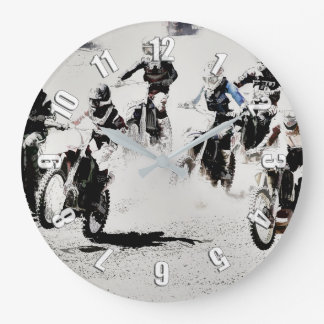 The Race is On - Motocross Racer Wall Clocks