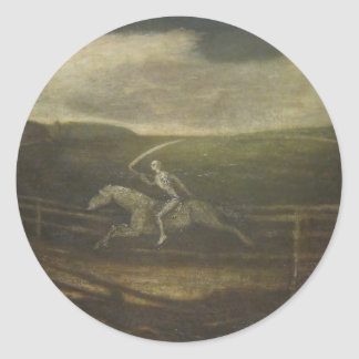 The Race Track Or Death On A Pale Horse Round Sticker