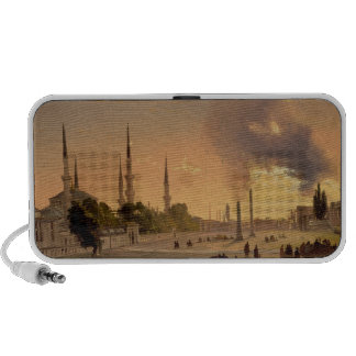 The Racecourse at Constantinople (oil on canvas) iPod Speakers