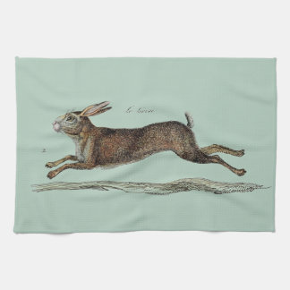 The Racing Hare at Easter Tea Towel
