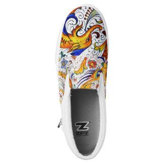 The Raffaellesco Daniele Deruta Slip-on Printed Shoes