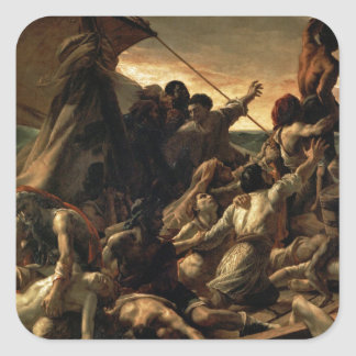 The raft of the jellyfish - Géricault Square Stickers