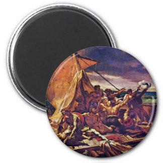 The Raft Of The Medusa (Study) By Géricault Jean L 6 Cm Round Magnet