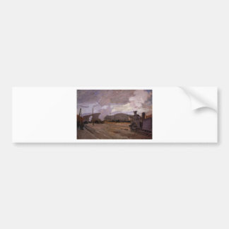 The Railroad Station at Argenteuil by Claude Monet Bumper Sticker