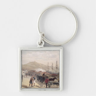 The Railway at Balaklava, plate from 'The Seat of Silver-Colored Square Key Ring