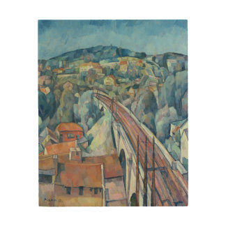 The Railway Bridge at Meulen Wood Print