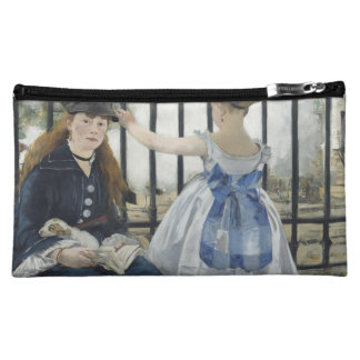 The Railway by Edouard Manet Cosmetic Bags