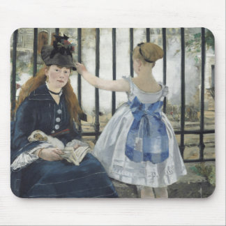 The Railway by Edouard Manet Mouse Pad