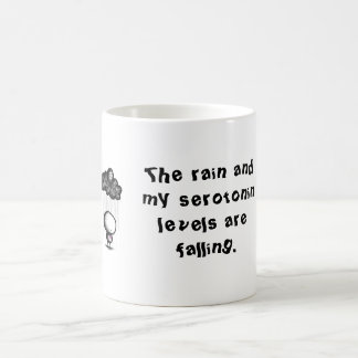 The rain and my serotonin levels are fall... coffee mug