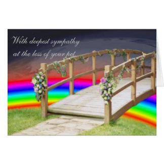 The rainbow bridge greeting card