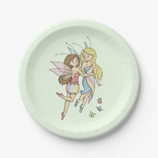 The Rainbow Fairies Paper Plate